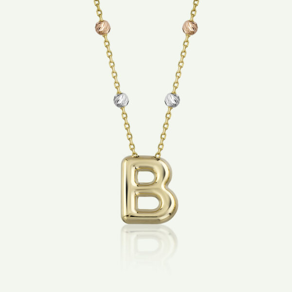 'B' Initial Necklace