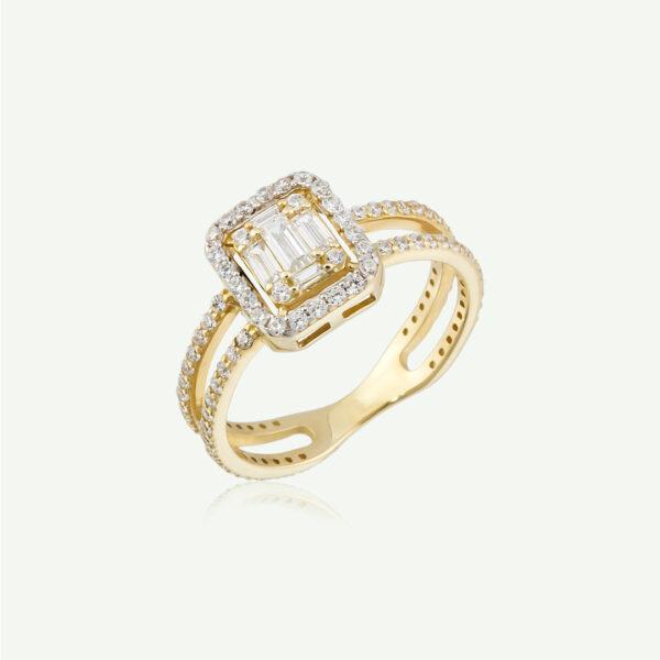 Cubic Zirconia Baguette Ring