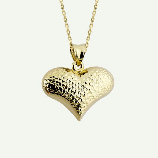 Diamond-Cut Heart Necklace