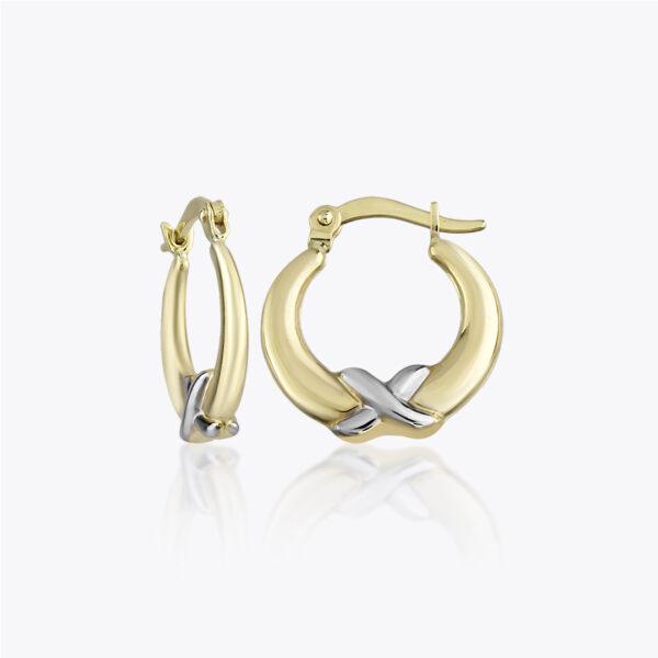 Hoop Earrings with Cross Detail