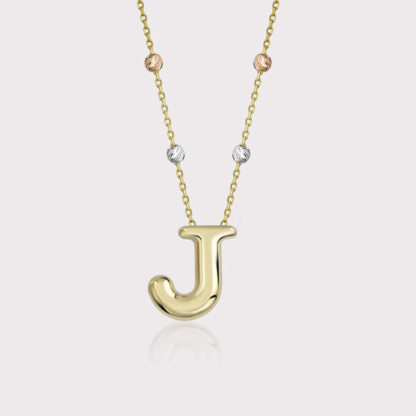 'J' Initial Necklace