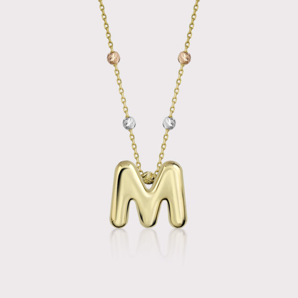 'M' Initial Necklace