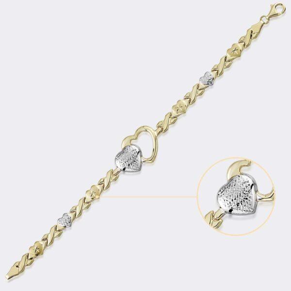 Open Heart Stampato Bracelet