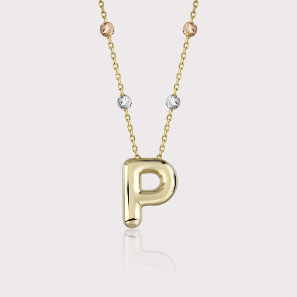 'P' Initial Necklace