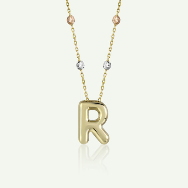 'R' Initial Necklace