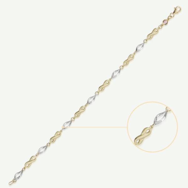 Two Tone Infinity Bracelet