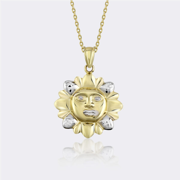 Two Tone Sun Necklace