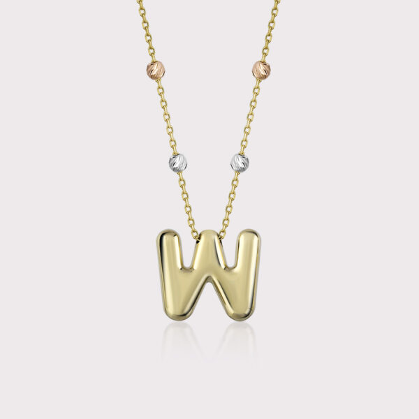 'W' Initial Necklace
